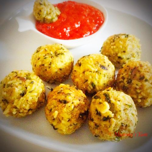 Ugu noodle balls with honey sauce