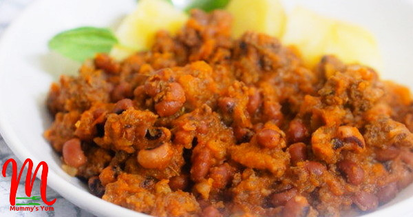 Minced Meat and Beans Sauce