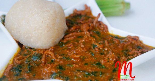 minced meat ogbono soup
