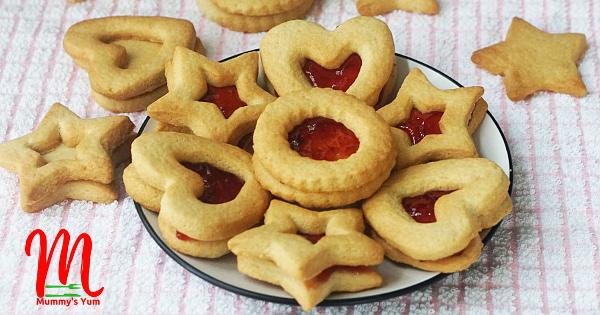 Homemade Vanilla Jam Cookies