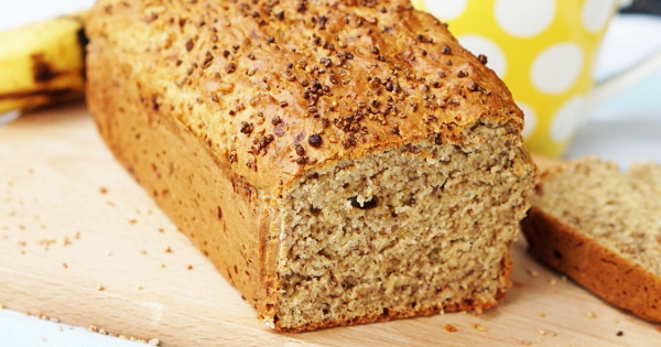 Banana Bread with Oats & Dates Powder