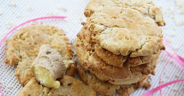 Leftover Porridge Oats Ginger Cookies