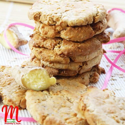 leftover porridge ginger cookies